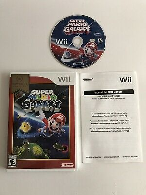 Nintendo Selects Wii SUPER MARIO GALAXY Bros Brothers Kids Video Game COMPLETE