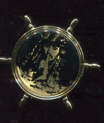 Pirates of the Caribbean Ships Wheel with Captain Jack Disney Pin 122240