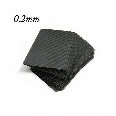 0.2mm Thick 100% 3k Carbon Fiber Blank Business card Size Twill Wave 75 Lot