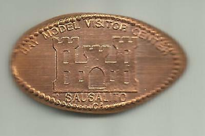 Copper elongated penny (cent) BAY MODEL VISITOR CENTER Sausalito CA RETIRED DIE