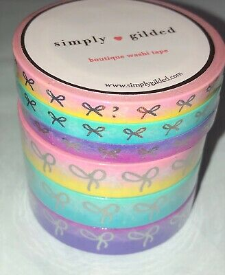 NEW Bundle pink lemonade purple sunset blue Simply Gilded Washi Tape 5 & 10 mm