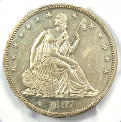 1867 PROOF Seated Liberty Half Dollar 50C -  PCGS Proof AU Details - Rare Coin!