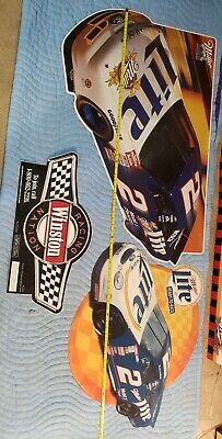 Rusty Wallace Miller Lite Racing Tin Man Cave Beer Collectible Lot Sale