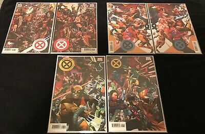 HOUSE OF X #1-6  POWERS OF X #1-6 Connecting Variants 2019 Marvel Hickman NM