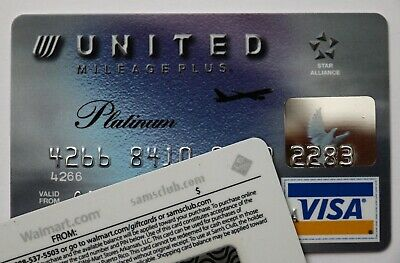 Expired 04/2008 Chase Bank United Airlines Platinum Visa Credit Card