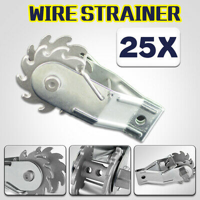 25Pcs Electric Inline Ratchet Wire Strainer Tensioner Fencing Fence Energiser AU