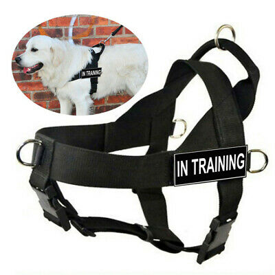 Service Dog Harness Vest w/ Handle Removable patches for Medium Large Dogs