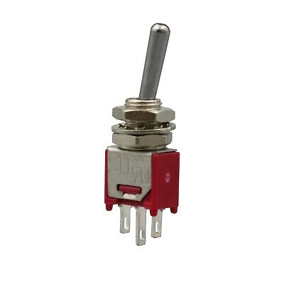 SPDT 10 PACK SUB-MINI TOGGLE SWITCH 3A@125VAC-1A@250VAC #SMT2-10PK ON//ON