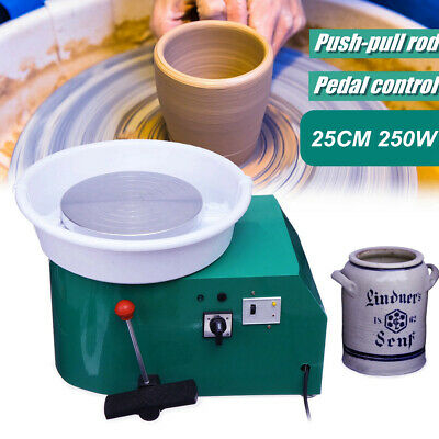 Electric Pottery Wheel Pottery Machine 250W Ceramic Clay 25cm Throwing NU