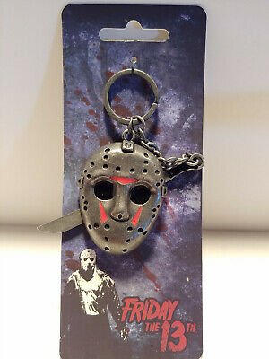 friday the 13th metal keychain jason vorhees mask horror