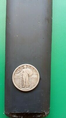 standing liberty quarter 1917d (stars below eagle) ( fine)
