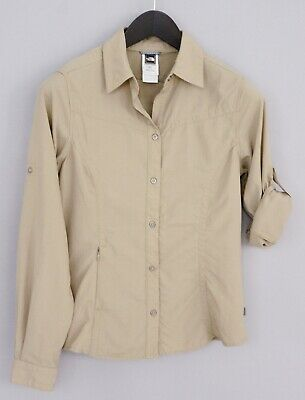 Donna The North Face Camicia Casual Outdoor Escursioni Campeggio Nylon XS MGA802