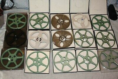 15 x Vintage 1960's Super 8 Movie Reels / Spools / Cans w. Cases - Tuscan Elmo