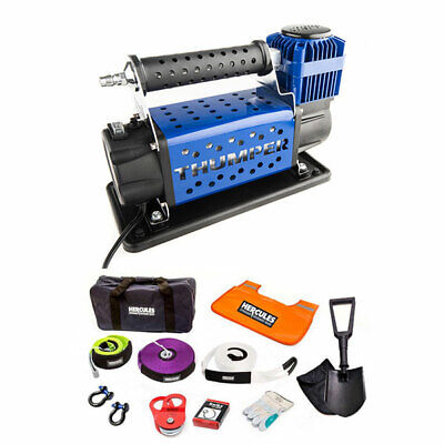 Hercules Complete Winch Recovery Kit + Thumper Air Compressor MKII Offroad 4WD