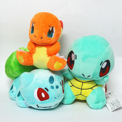 Pokemon Charmander Squirtle Bulbasaur Plush Doll Toy Pocket Monster Stuffed Xams