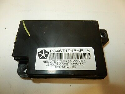 Jeep Patriot (2007 - 2011) Remote Compass Module P04671918Ae A