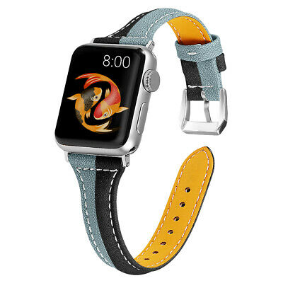40/44mm Genuine Leather iWatch Strap for Apple Watch Band Series 5 4 3 2 38/42mm