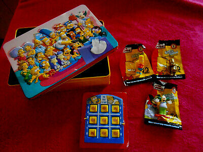 THE SIMPSONS BUNDLE STICK'EMS COLLECTOR TOYS x 3 - TIN - TIC TAC D'OH! GAME TOY