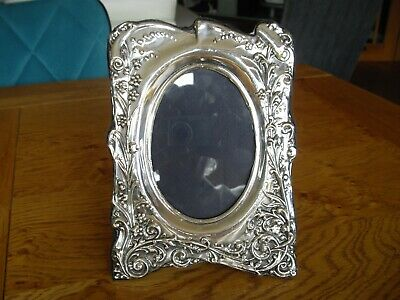 Hallmarked solid silver photograph frame