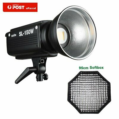 AU Godox SL-150W 5600K Studio LED Video Light + 95cm Grid Softbox Bowens Mount