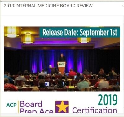 ACP : Internal Medicine Board Review Video Lectures 2019 (New!)