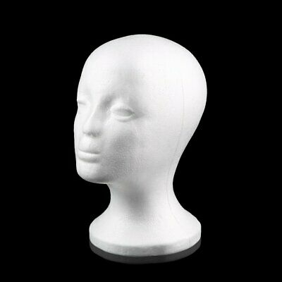 Female Styrofoam Mannequin Manikin Head Model Foam Wig Hair Glasses Display C4