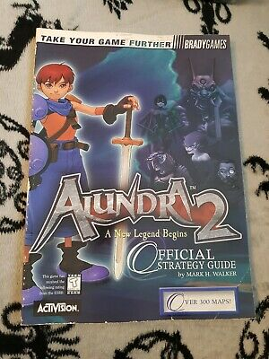 Ps1 Alundra 2 Official Brady Games Strategy Guide Very Rare