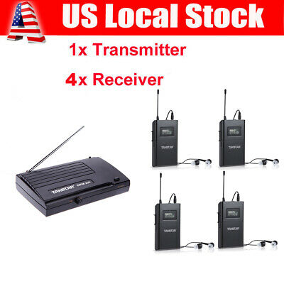 WPM-200 Wireless In Ear Monitor System 4 Receivers 6CH for Stage Monitoring B3W8