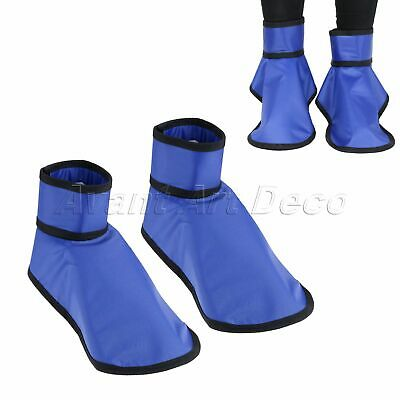 2Pc Protective Lead Shoe Cover Radiation 0.35mmpb Shoe Shield For Dental Clinics