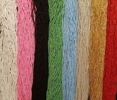 42 Inch Tie-On Solid Color African Waist Bead Strand