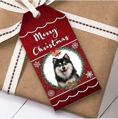 Finnish Lapphund Dog Christmas Gift Tags (Present Favor Labels)
