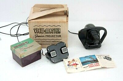 vintage BAKELITE VIEW-MASTER JUNIOR PROJECTOR and STEREO VIEWER, boxed