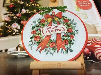 Festive Cupcake Sampler Tree Present Wreath Christmas Cross Stitch Chart X3