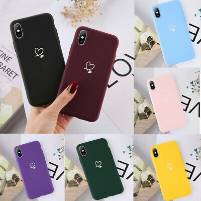 Love Heart Shape Soft Case For iPhone 11 7 8 Plus XS MAX XR Girls Cover Cute