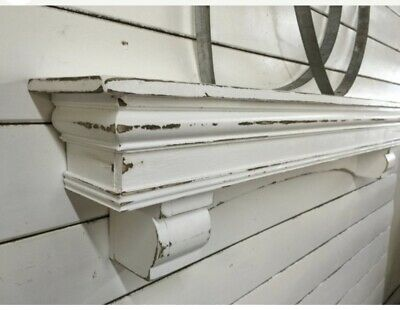 vintage style Arch Mantle With Corbels , 48 inches
