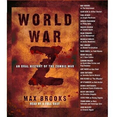 World War Z: Oral History Of The Zombie War 5-Disc Cd Audiobook By Max Brooks