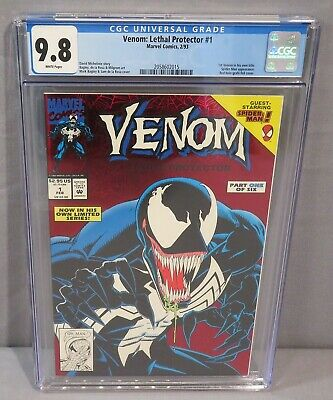 VENOM: LETHAL PROTECTOR #1 (White Pages) CGC 9.8 NM/MT Marvel Comics 1993