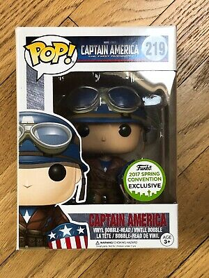Funko Pop Captain America 219 ECCC Spring Convention Exclusive with Protector