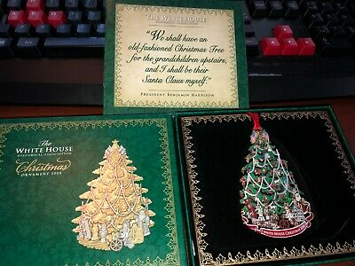 2008 The White House Historical Association Christmas Ornament with box & papers