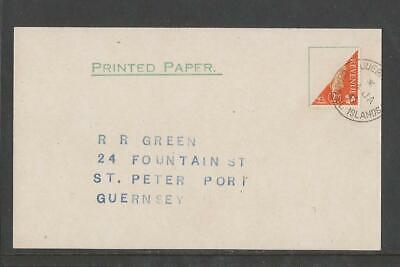 Gb Guernsey Wwii Occupation 1941 Bisect Postcard