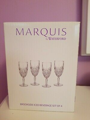 NEW Marquis by Waterford Brookside Iced Beverage Glasses 12 oz - Set of 4