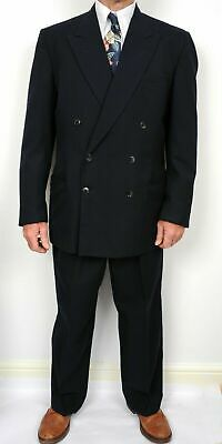 Vintage Suit 1940s Style, Double Breasted, WW2 Style, 40-42 Chest