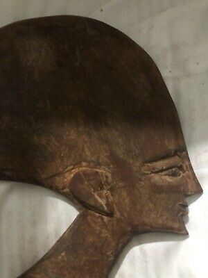 Rare Ancient Egyptian  Akhenaton Wooden Mask(1336 Bc-1324)