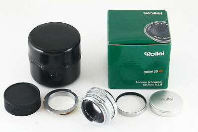[Rare!] Rollei Sonnar 40mm f/2.8 HFT MF Lens for Leica L39 Screw & M Mount 5919
