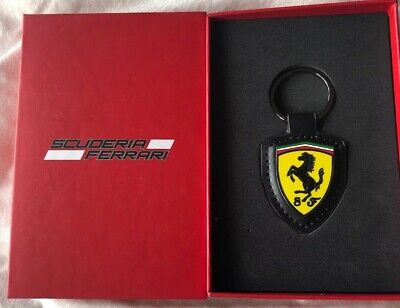 Scuderia Ferrari Keyring Leather
