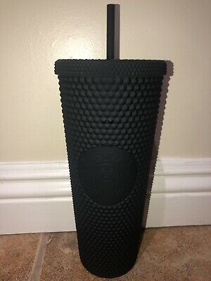 Starbucks Matte Black Studded Tumbler Reusable Cup 24oz Fall 2019 Limited