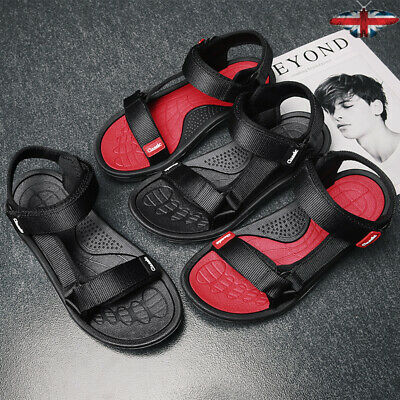 Mens Sport Casual Beach Shoes Summer Sandals with Adjustable Straps Walking Flat