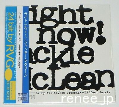 JACKIE McLEAN / Right Now +1 JAPAN Mini LP BLUE NOTE CD w/OBI TOCJ-9533