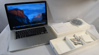 """Apple MacBook Pro Mid 200910.11.6 A1286 CORE 2 DUO 2.53GHZ 4GB 250GB 15.4"""""""