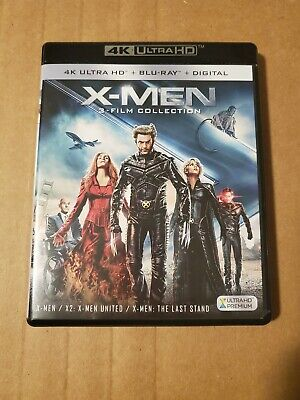 X-Men (3) Film Collection: (4K Ultra HD & Blu-ray) LIKE NEW CONDITION!!